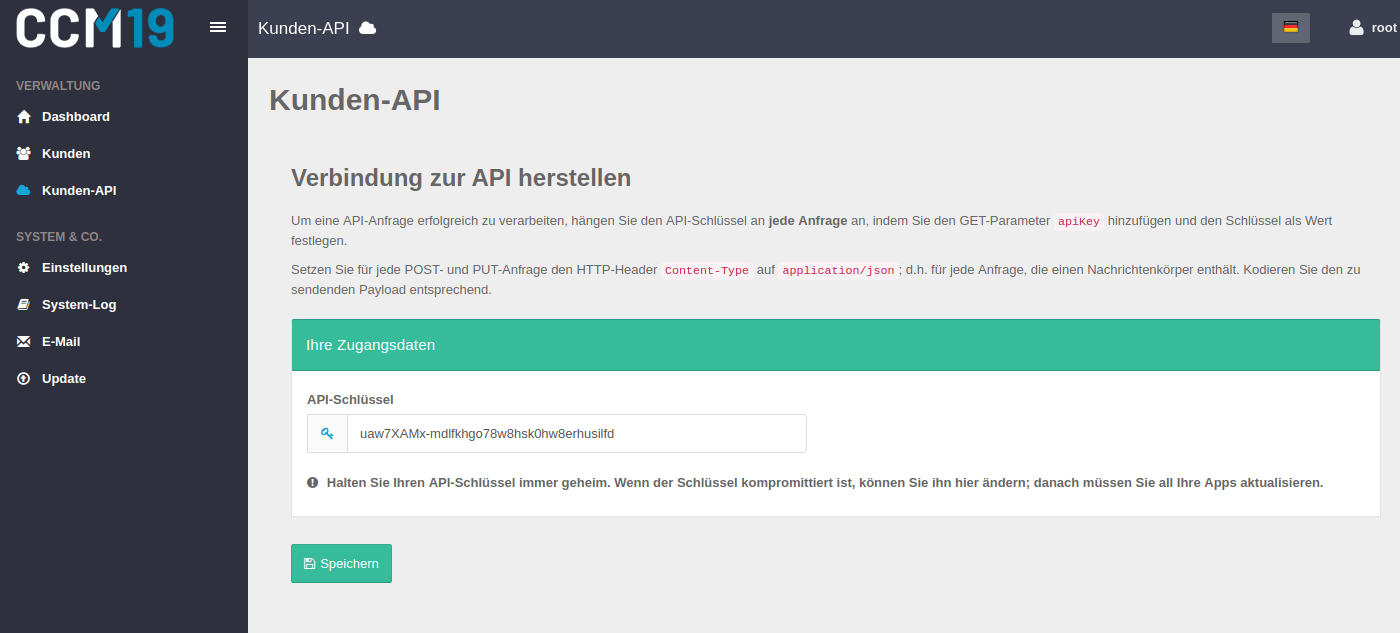 API für Agency Version